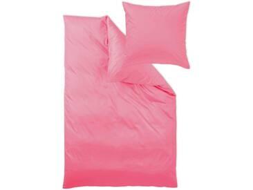 Curt Bauer Bettwäsche »Uni-Mako-Satin«, im schlichten Uni Design, rosa, 1x 155x220 cm, Mako-Satin, pink