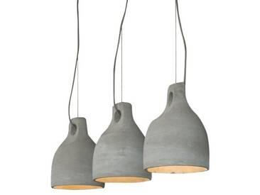 SalesFever Hängeleuchte Winnie 3 Lampenschirme 25 cm Beton, grau, grau