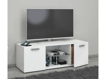 VCM TV - Lowboard Lowina, weiß, B. 115cm Weiß