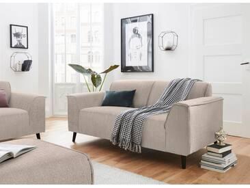 DOMO collection 2-Sitzer, inklusive komfortablen Federkerns, natur, 178 cm, beige