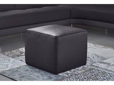 NATUZZI EDITIONS Hocker »Genua« in zwei Lederqualitäten, schwarz, black