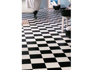 Andiamo ANDIAMO Vinylboden »PVC Smart«, verschiedene Breiten, Meterware, Fliesen-Optik, schwarz, 200 cm, schwarz/weiß