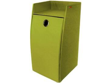Franz Müller Flechtwaren Wäschebox, rechteckig aus Polyester, grün, grün