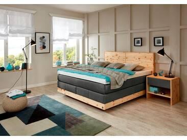 ADA premium Boxspringbett »Chalet«, TF 170 SL PM, grau, 7-Zonen-Tonnentaschenfederkern-Partnermatratze H2, anthrazit TID 10