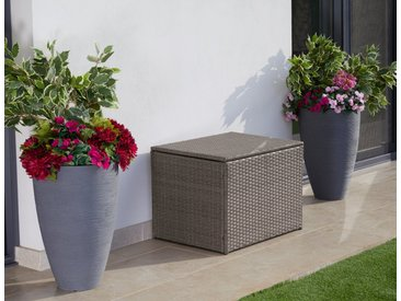 KONIFERA Auflagenbox »Mailand klein«, 70x52x51 cm, Polyrattan, grau, grau