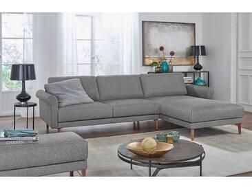 Hülsta Sofa hülsta sofa Polsterecke »hs.450« im modernen Landhausstil, Breite 282 cm, grau, Recamiere rechts, lichtgrau/schwarzgrau