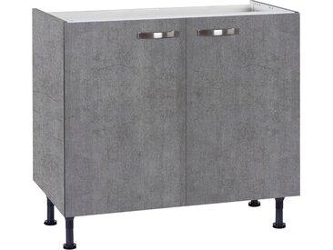 Spülenschrank »Cara« Breite 90 cm, grau, beton/beton