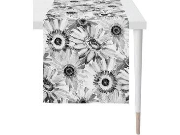APELT Tischläufer »1700 Summergarden« (1-tlg), Digitaldruck, schwarz, grau-weiß-schwarz