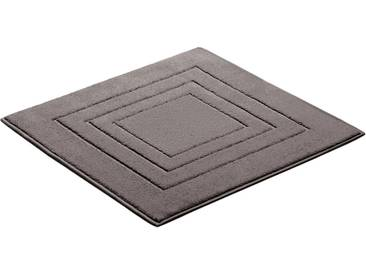 Vossen Badematte »Feeling« , Höhe 10 mm, fußbodenheizungsgeeignet, grau, 10 mm, pepplestone