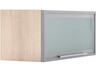 OPTIFIT Klapphängeschrank, Breite 80 cm, grau, alufarben/akaziefarben