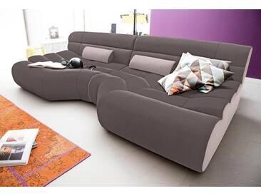 TRENDMANUFAKTUR Trendmanufaktur Mega Sofa, Braun, Schlamm/beige