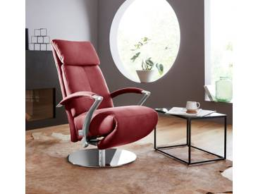 W.SCHILLIG Relaxsessel »kronos« mit Drehteller, rot, ruby red Z59