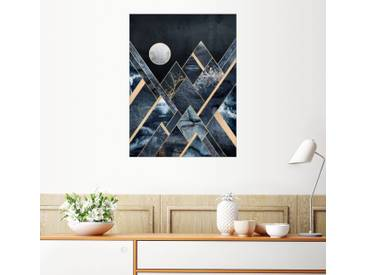 Posterlounge Wandbild - Elisabeth Fredriksson »Stürmische Berge«, bunt, Leinwandbild, 120 x 160 cm, bunt