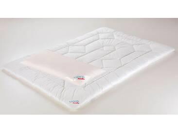Paradies Microfaserbettdecke + Microfaserkissen, »Set Holstein-Duett BW«, Geprüfte Qualität, Extra Warm