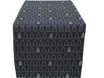 HOSSNER - HOMECOLLECTION Tischläufer »Tree Parade« (1-tlg), schwarz, schwarz-silberfarben