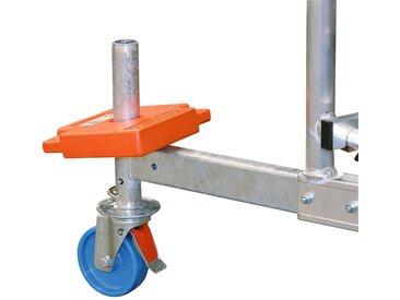 KRAUSE Gerüstzubehör »ClimTec Fahrrollensatz«, 4 Stück, Ø 125 mm, blau, blau