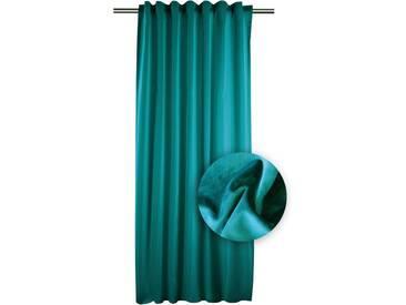 APELT Vorhang »TASSILO«, Smokband (1 Stück), Tassoli, Fertigschal mit Universalband, grün, Smokband, blickdicht, petrol