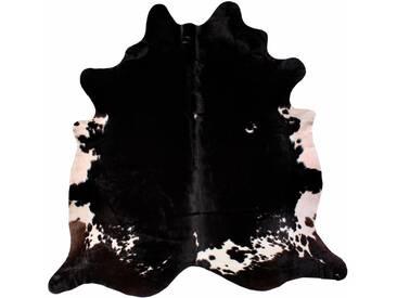LUXOR living Fellteppich »Rinderfell 4«, tierfellförmig, Höhe 3 mm, echtes Rinderfell, schwarz, 3 mm, schwarz-gemustert