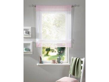 my home Raffrollo »Xana«, mit Stangendurchzug, Bändchenrollo, rosa, Stangendurchzug, transparent, rosé