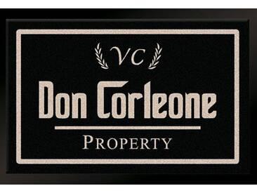 HANSE Home Fußmatte »Don Corleone - Mafia«, rechteckig, Höhe 7 mm, schwarz, 7 mm, schwarz