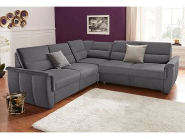 DOMO collection Ecksofa, grau, 237 cm, gleichschenklig, pepper