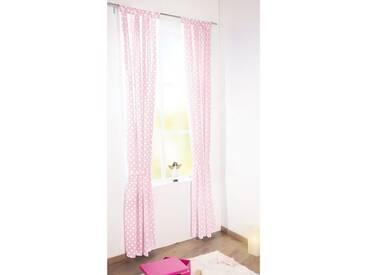 Pinolino® Vorhang Punkte, rosa, 140 x 245 cm, (1 Schal), rosa, rosa
