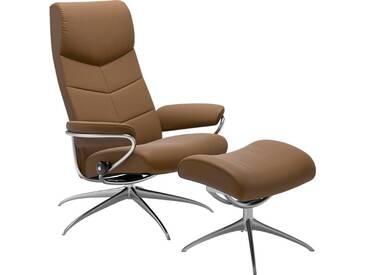Stressless® Set: Relaxsessel mit Hocker »Dublin« mit Star Base, in 2 Höhen, mit Schlaffunktion, natur, Standard Base, almond PALOMA