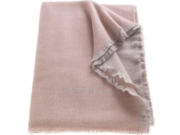Esprit Plaid »LOGO«, Chashmink-Decke, rosa, Polyacryl-Baumwolle-Polyester, rosé