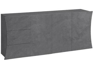 Tecnos Kommode »Arco«, Breite 190 cm, grau, zementfarben