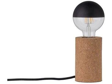 Paulmann LED Tischleuchte »Tona Kork max. 20W E27«, 1-flammig, natur, Ø8 cm / H:13 cm, 1 -flg. /, natur