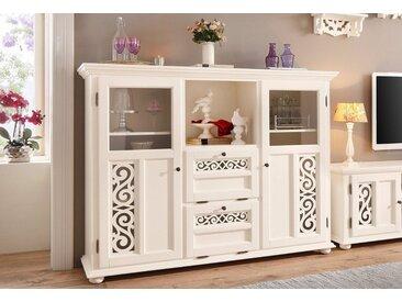 Home affaire Highboard »Arabeske«, erstrahlt in einer schönen Holzoptik, mit dekorativen Fräsungen auf den Türfronten, Breite 160 cm