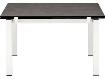 connubia by calligaris Tisch mit Tischplatte aus Keramik »Airport CB/4011«, grau, Metall schneeweiß matt, Keramik bleigrau