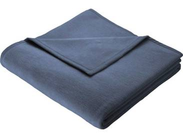 BIEDERLACK Wohndecke »Cotton Home«, im Uni Design, blau, Baumwolle-Kunstfaser, graublau