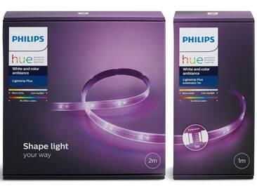 Philips Hue »LightStrip 300 cm (Base 200 cm + Erweiterung 100 cm)« LED-Lichtsystem, 2 Stück, Neutralweiß, Tageslichtweiß, Warmweiß, Extra-Warmweiß, Farbwechsler, smartes LED-Lichtsystem mit App-Steuerung