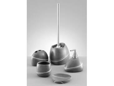 Zeller Present Zeller Zahnputzbecher »Stein-Optik«, grau, grau