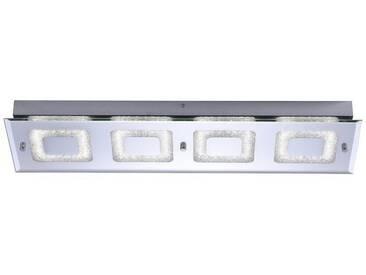 Leuchten Direkt LEUCHTEN DIREKT LED-Deckenleuchte, Kristalloptikeinsatz rechteckig 4-flammig »LISA«, silberfarben, chrom