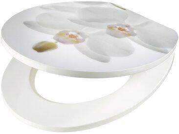 WC-Sitz »Orchidee weiß«, MDF Toilettensitz mit Absenkautomatik, weiß