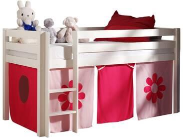 Vipack Hochbett, Furniture, rosa, Weiß lackiert, Pink Flower