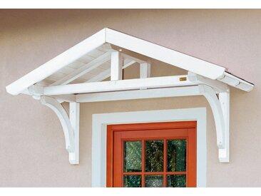 Skanholz Vordach-Set »Stettin«, BxT: 180x80 cm, inkl. roten Dachschindeln, weiß, 180 cm, weiß
