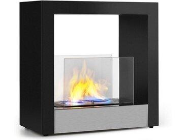 Klarstein Phantasma Cube Ethanol-Kamin rauchfrei Edelstahl »Phantasma Cube«, schwarz, schwarz