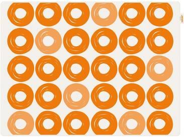 Contento Platzset »Jay - Ringe« (Set 2-tlg), orange, Silikon, weiß-orange