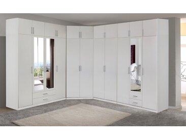 Wimex Eckkleiderschrank »Spectral«, weiß, Türen: 4 - mit Spiegel, weiß