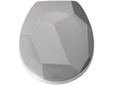 MSV WC-Sitz »ORIGAMI«, Duroplast, mit Softclose, grau, grau