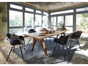 Kasper-Wohndesign Esstisch Massivholz Eiche Öl Finish versch. Größen »SEALA«, braun, 220 x 110 cm, braun