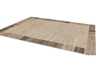 OCI DIE TEPPICHMARKE Teppich »Natura Silk Greny«, rechteckig, Höhe 20 mm, handgeknüpft, braun, 20 mm, braun