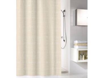 Kleine Wolke KLEINE WOLKE Duschvorhang »Linen«, 180 cm Breite, natur, beige