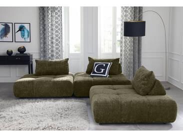 Guido Maria Kretschmer Home&Living GMK Home & Living Polsterecke »Eidum«, variabel, gleichschenklig, inklusive Kissen, grün, Gleichschenklig, olive