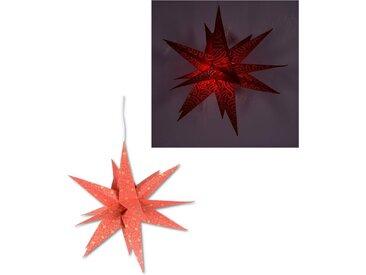 Dekolicht »Fensterstern«, in 3D Optik, mit Motiv, rot, rot