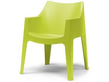SalesFever Gartenstuhl mit Armlehnen aus Kunststoff »Coccolona«, grün, hellgrün