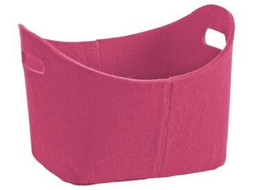 Zeller Present Zeller Filzkorb , oval, rosa, pink